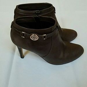 ☆COACH BROWN LEATHER BOOTIES